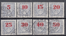 LIECHTENSTEIN - Michel - 1940 - Nr 21/28 - Gest/Obl/Us - Taxe