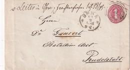 THURN UND TAXIS  1866  ENTIER POSTAL/GANZSACHE/POSTAL STATIONERY   LETTRE DE GERA - Entiers Postaux