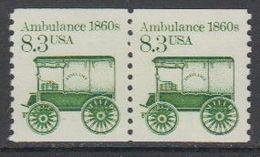USA 1985 Ambulance 1860s 1v (pair) ** Mnh (43133A) - Verenigde Staten