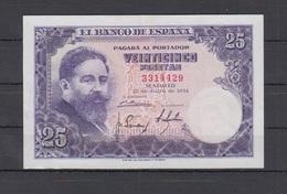 EDIFIL 467.  25 PTAS ISAAC ALBENIZ SIN SERIE.  CONSERVACIÓN EBC. - [ 3] 1936-1975 : Régimen De Franco
