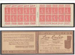 Carnet - Semeuse Lignée 50 C. Rouge  - Y&T N° 199-C 46 Série S 158 Neuf ** Luxe - Markenheftchen