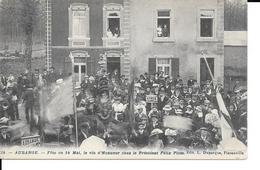 AUBANGE - N°24 - Fête Du 14 Mai - Vin D'Honneur Chez Le Président Félix PLOM - L. Duparque, Florenville - 2 Scans. - Aubange