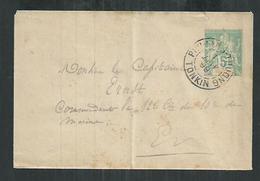 Indochine. Tonkin. Entier Postal Type Groupe Oblitéré De Phu Lang Thuong En 1899 - Brieven En Documenten