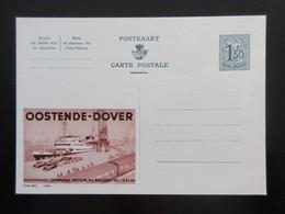 ENTIER CP PUBLIBEL 1589 OOSTENDE - DOVER . BRUSSEL .  NEUF - Publibels
