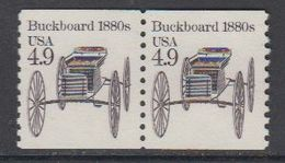 USA 1985 Buckboard 1980s 1v (pair) ** Mnh (43133D) - Verenigde Staten