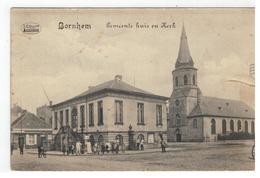 Bornem  Bornhem - Gemeentehuis En Kerk (WO I) - Bornem
