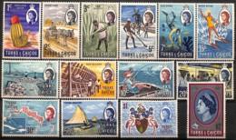 [829063]TB//**/Mnh-Turks & Caicos (I. Turques Et Caïques)   1971 - N° 258/71, En Cents Et Dollars, Métiers, Bateaux, Cac - Turks & Caicos