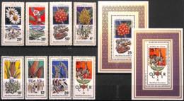 [829453]TB//**/Mnh-Rwanda 1975 - N° 619/26+BL, Avec Les 2 Blocs, Agriculture, Fleurs Diverses, SC - Agriculture