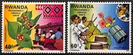 [829484]TB//**/Mnh-Rwanda 1979 - N° 876/77, Philexafrique, Expo Philatélique, Musique, Satellites, Fleurs, SC - Musique