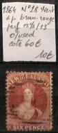 [829615]TB//O/Used-c:60e-Nouvelle-Zélande 1864 - N° 28, 6p Brun-rouge - 1855-1907 Colonie Britannique