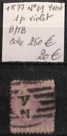 [829618]B/TB//O/Used-c:250e-Nouvelle-Zélande 1877 - N° 49, 1p Violet, Cote 250 Euros - 1855-1907 Colonie Britannique