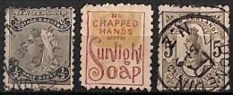 [829620]TB//O/Used-c:26e-Nouvelle-Zélande 1891-95 - N° 67/69, 2p1/2 Bleu Avec Impression Au Verso (voir Scan) - 1855-1907 Colonie Britannique