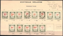 [829647]TB//*/Mh-c:541e-Nouvelle-Zélande 1900 - TX1/10, Dont Types, 3 Oblitérés (voir Scan), Rare, Cote 541 Euros, Taxe - Service