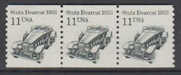 USA 1985 Stutz Bearcat 1v  Strip Of 3 ** Mnh (43133I) - Verenigde Staten