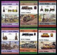 NIUTAO TUVALU  Zdr.  Hist. Dampfloks   Mi. 9/20  ** - Trains