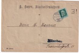 BAYERN  1915 LETTRE DE MÜNCHEN PERFORE / PERFIN - Bavière
