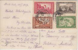 Monaco - 15-30 C. Freimarken Bauwerke Karte Monte Carlo N. Salzburg 1937 - Monaco