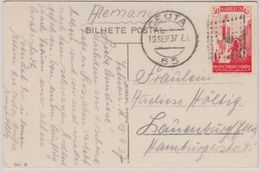 Span. Marokko - 30 Cts. Ansichtskarte Tetuan Ceuta - Lauenburg 1937 - Spanien