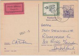 Österreich - 2,50 S. Baudenkmäler Ganzsache Eilboten Wien Poing B. München 1974 - Entiers Postaux