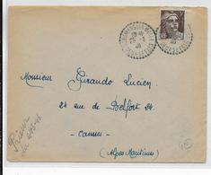 1948 - DEUX-SEVRES - ENVELOPPE De ST ROMANS LES MELLE Avec CACHET BUREAU DE DISTRIBUTION => CANNES - Marcophilie (Lettres)