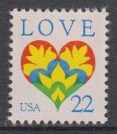 USA 1987 Love 1v ** Mnh (43134B) - Verenigde Staten