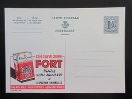 ENTIER CP PUBLIBEL 1551 . CAFE SILVER CROWN FORT .    . NEUF - Stamped Stationery