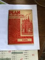 Caen :Plan Monumental Principaux Renseignements - Dépliants Turistici