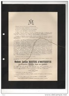 Madame Antoine Montens D'Oosterwyck °Escanaffles 1907+19/1/1938 Emptinne Del Marmol De Halloy - Obituary Notices