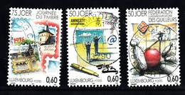 Luxemburg 2011 Mi Nr 1900 - 1902 Dag Van De Postzegel, 50 Jaar Amnesty, Kegelen - Gebruikt