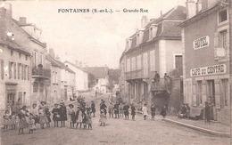 Fontaines (71 - Saône Et Loire) Grande Rue - Altri Comuni