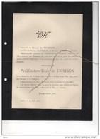 Paul De Vigneron °Bruxelles 1876 +27/5/1893 Ixelles Hofstade De WAHA - Obituary Notices