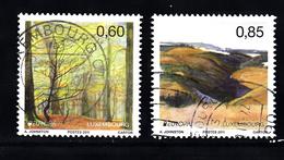 Luxemburg 2011 Mi Nr 1904 + 1905 : Europa, Bomen - Gebruikt
