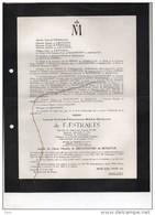 Louis De Faestraets Capitaine Reserve Troupes Blindées Epoux De Brouchoven De Bergeyck °brux 1921 +5/5/1959 Linsmeau - Obituary Notices