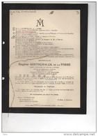 Eugene Godtschalk De La Fosse Consul Bolivie Tournai °Wervik 1867 +27/2/1938 Ixelles Notre Dame A La Cambre - Obituary Notices