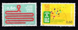 Luxemburg 2011 Mi Nr 1914 + 1915 Aids, ULC - Gebruikt