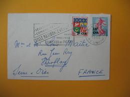 Lettre De La Réunion CFA  1962  N° 343 Et 349  De Saint Denis  Pour La France Seine Et Oise - Reunion Island (1852-1975)
