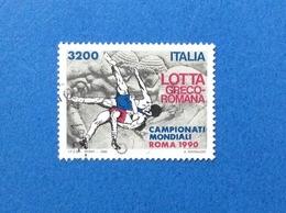 1990 ITALIA FRANCOBOLLO USATO STAMP USED Lotta Greco Romana 3200 Lire - 6. 1946-.. Republic
