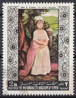 """Mutawakelite K. Yemen 1968 Mi. 558 """"La Figlia Dell'artista"""" Quadro Dipinto Da J.S. Copley Paintings Tableaux CTO - Altri"""