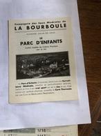 La Bourboule Le Parc D'Enfants - Tourism Brochures
