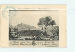 BEAUVOIR En ROYANS - Estampe Du XVIII  - Ruines De La Chapelle Du Château - 2 Scans - Frankreich