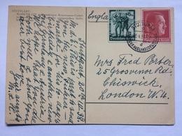 GERMANY 1938 Postcard Stuttgart To London - Front = Marktplatz - Briefe U. Dokumente