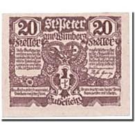 Billet, Autriche, St Peter Am Wimberg, 20 Heller, Personnage, SPL, Mehl:926 - Oesterreich
