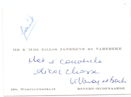 Visitekaartje - Carte Visite - Adel Noblesse - Mr & Mme Gilles Janssens De Varebeke - Bevere Oudenaarde - Cartes De Visite