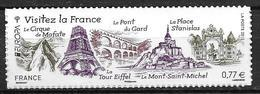 France 2012 Timbre Adhésif Neuf** N°713 Europa Visitez La France Cote 5,00 Euros - France