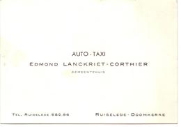 Visitekaartje - Carte Visite -  Auto Taxi - Edmond Lanckriet - Corthier - Ruiselede Doomkerke - Cartes De Visite