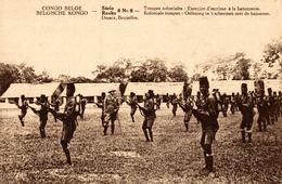 Cpa CONGO BELGE, édit.: REEKS - DESAIX, Exercice D'escrime à La Bajonnette - Congo Belge - Autres