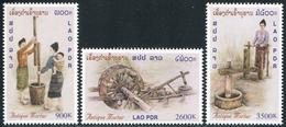 251 - Laos 2001  YT 1432-34 ; Mi# 1794-96 **  MNH  Mortier - Laos