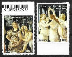 France 2010 Adhésifs N°492 Et 509 Neufs Sandro Botticelli Cote 13 Euros - France