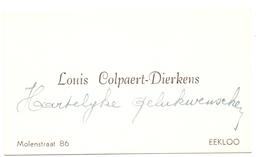 Visitekaartje - Carte Visite - Louis Colpaert - Dierkens - Eeklo - Visiting Cards