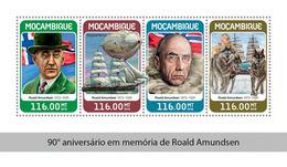 MOZAMBIQUE 2018 - R. Amundsen, Zeppelin Norge - Mi CV=25 €, 9549-52 - Polar Flights
